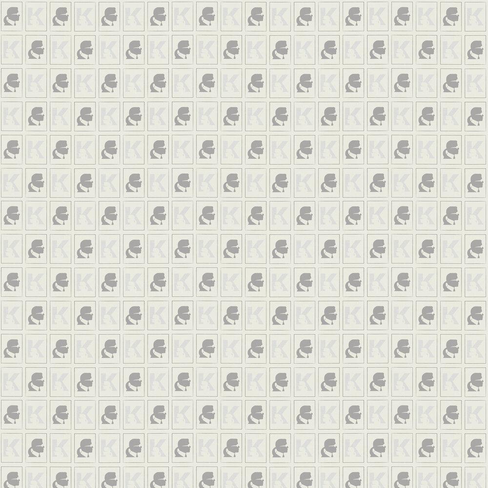 Kameo Wallpaper - Cream - by Karl Lagerfeld