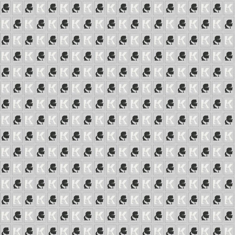 Kameo Wallpaper - Grey - by Karl Lagerfeld