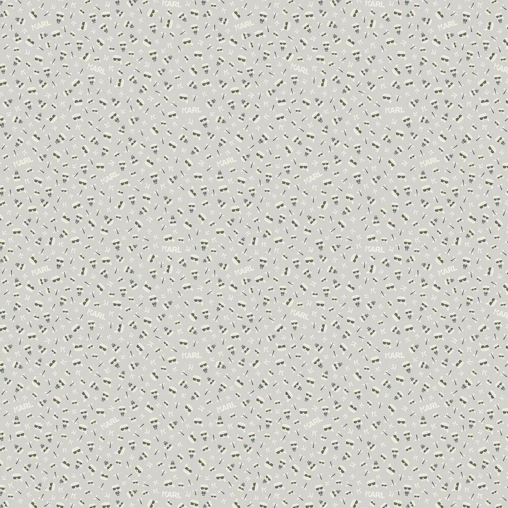 Ikonik Wallpaper - Light Grey - by Karl Lagerfeld