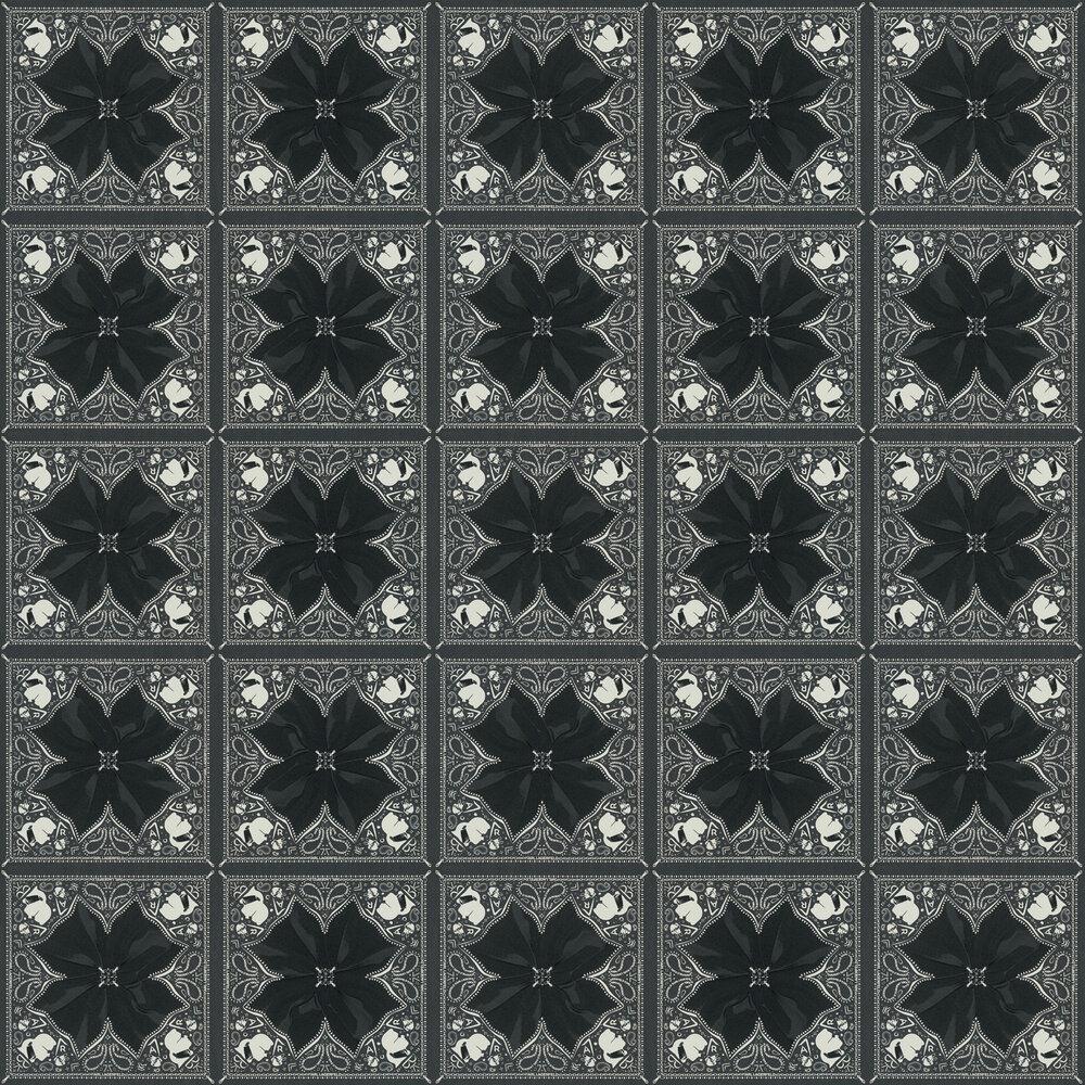 Kaleidoskop Wallpaper - Charcoal - by Karl Lagerfeld