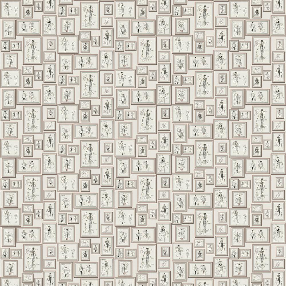 Sketch Wallpaper - Cream - by Karl Lagerfeld