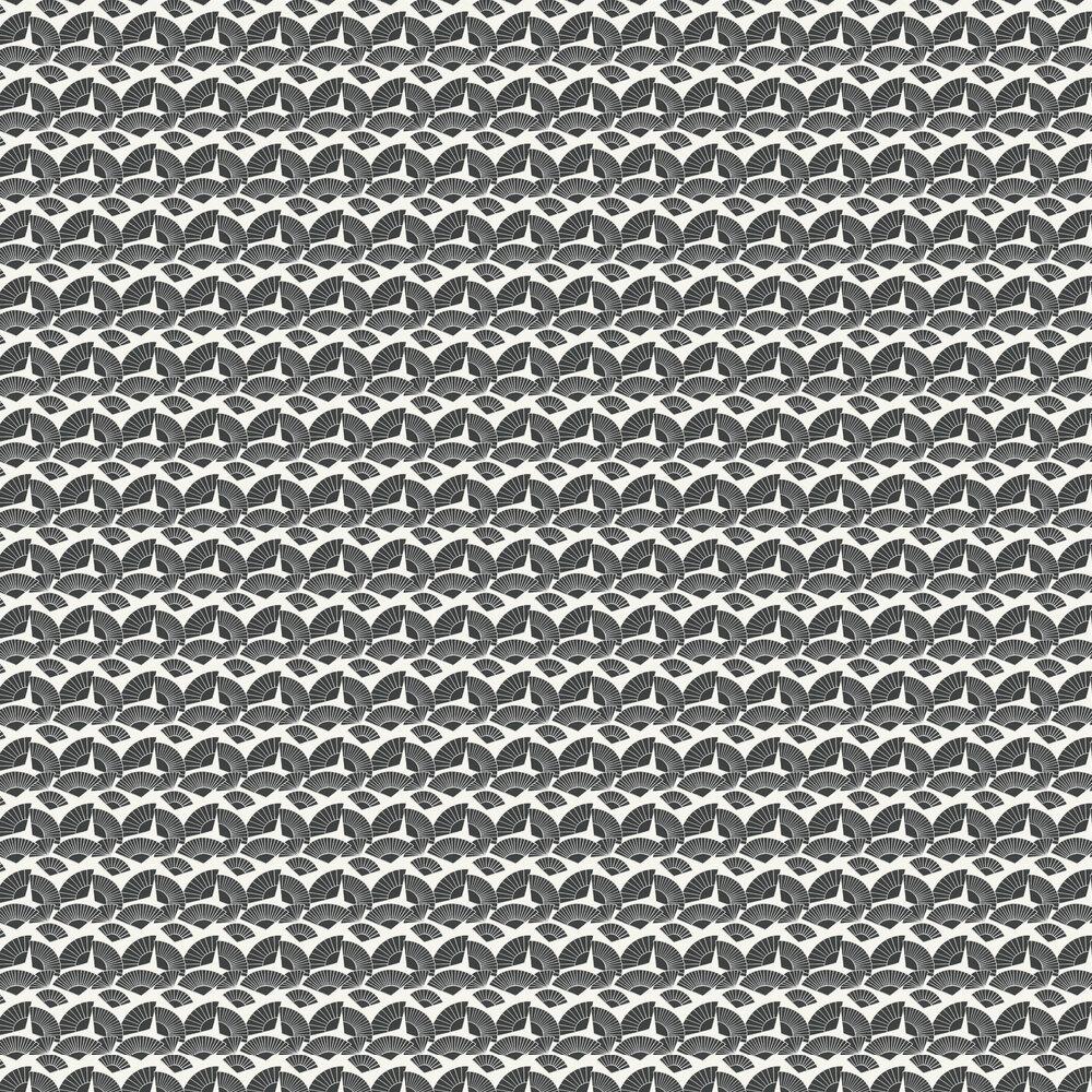 Fan Wallpaper - Black - by Karl Lagerfeld