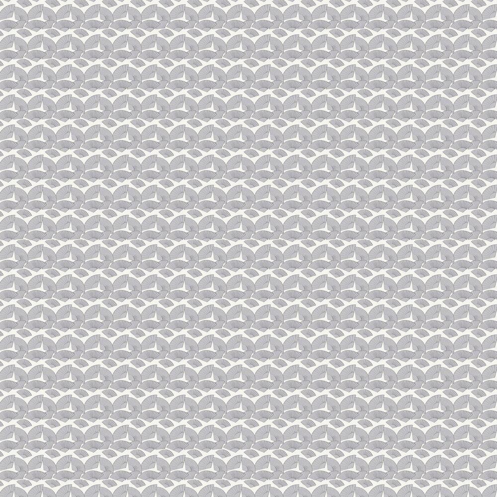 Fan Wallpaper - Light Grey - by Karl Lagerfeld