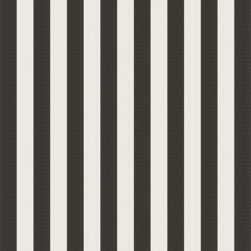 Stripes Wallpaper - Black / White - by Karl Lagerfeld
