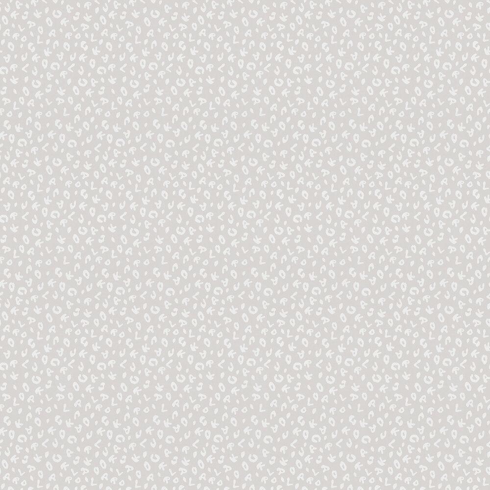 Leopard Wallpaper - Grey - by Karl Lagerfeld