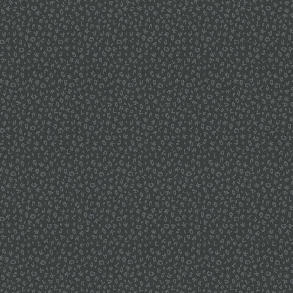 Leopard Wallpaper - Charcoal - by Karl Lagerfeld