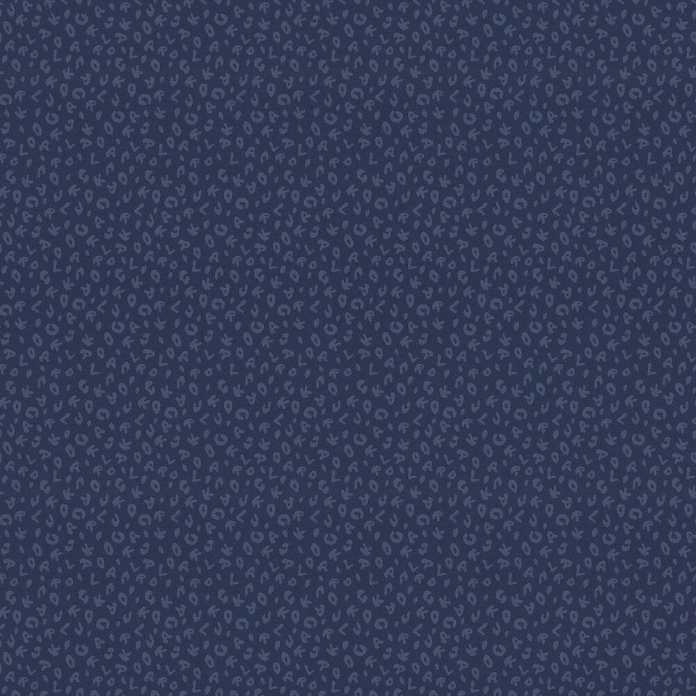 Leopard Wallpaper - Blue - by Karl Lagerfeld
