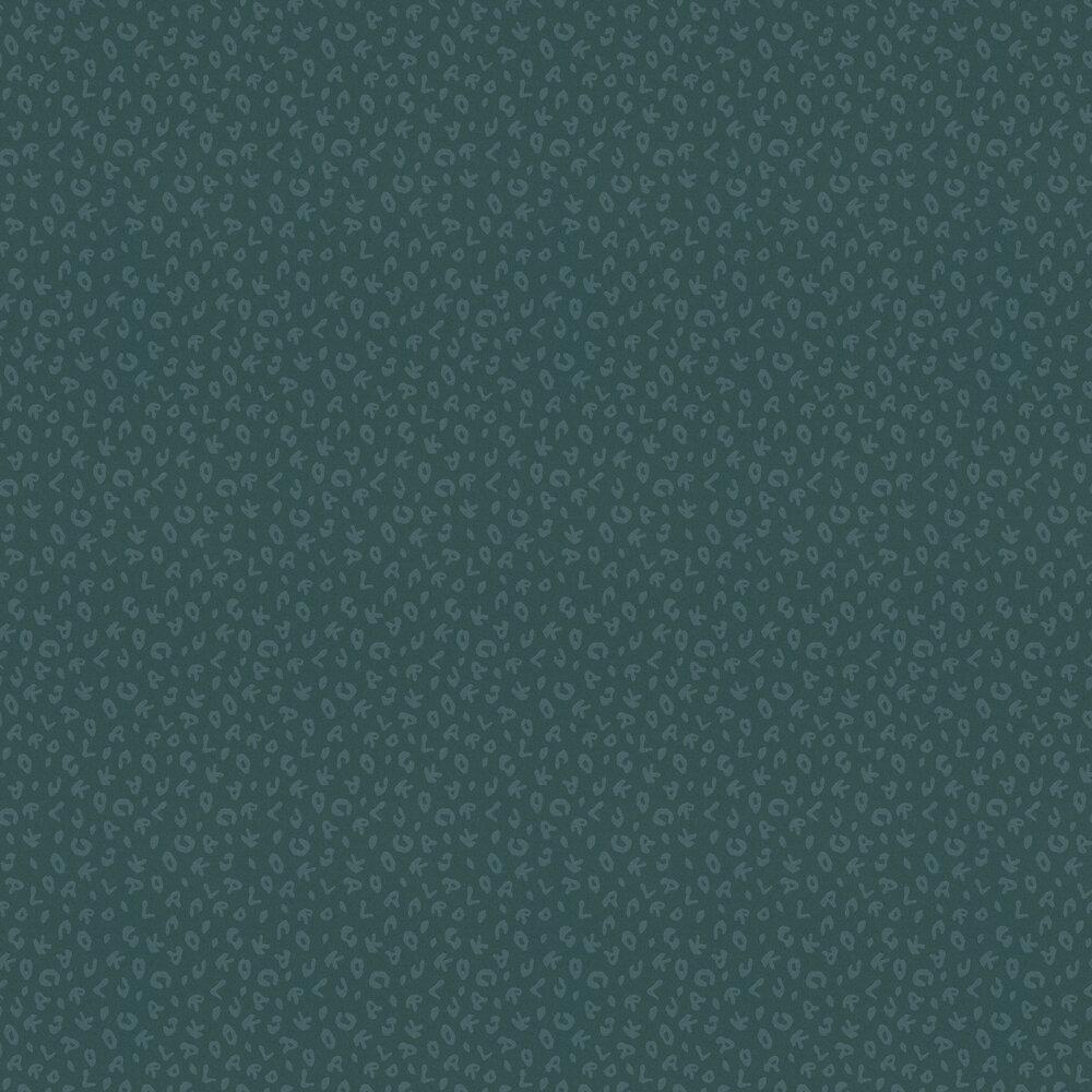 Leopard Wallpaper - Teal - by Karl Lagerfeld