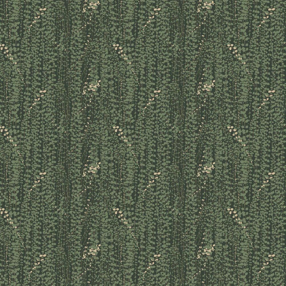 Ranke Wallpaper - Dark Green - by Boråstapeter