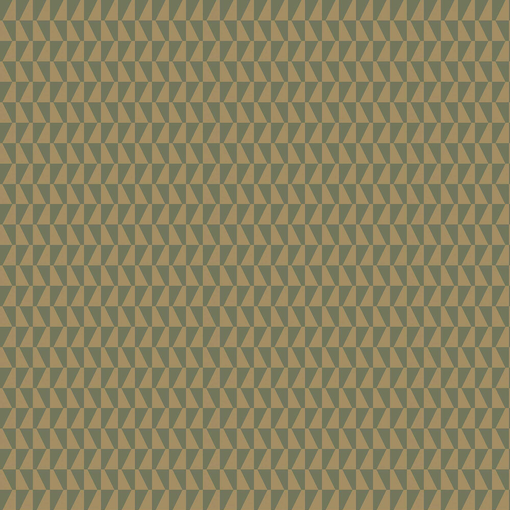 Trapez Wallpaper - Gold / Charcoal - by Boråstapeter