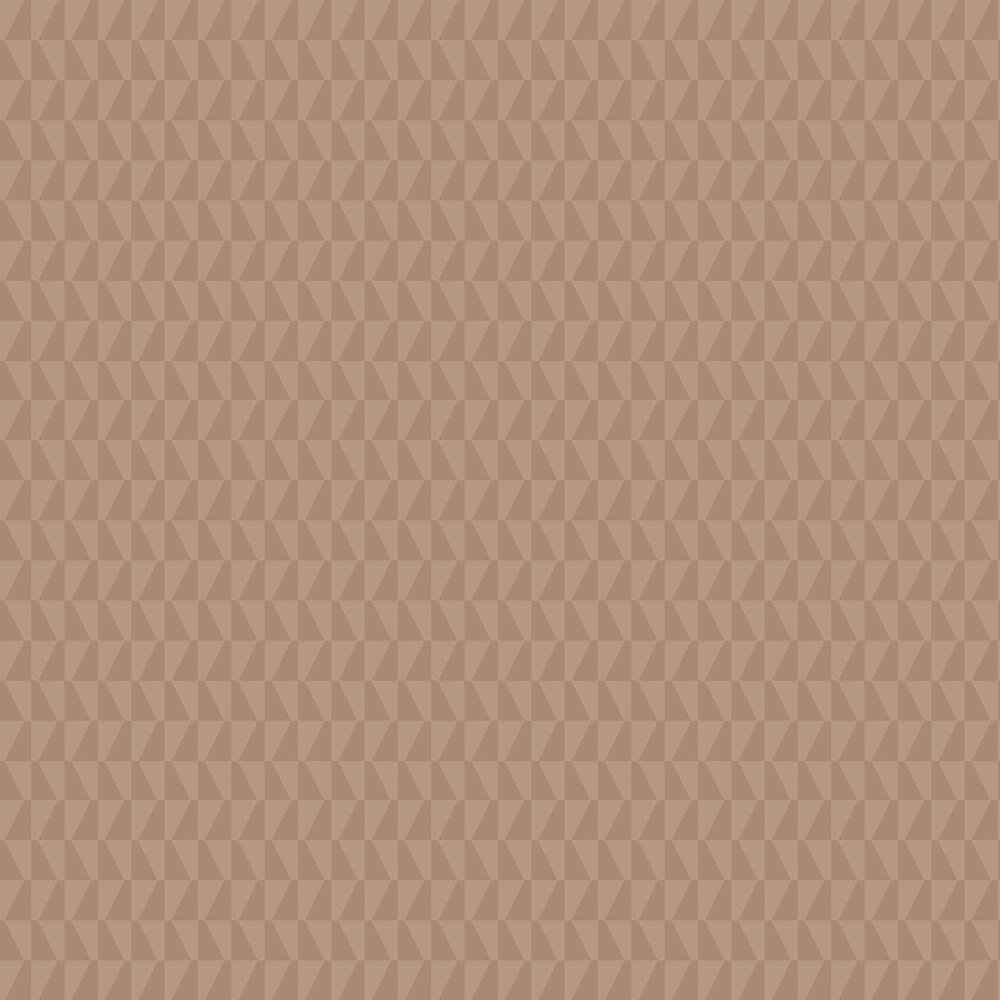 Trapez Wallpaper - Brown - by Boråstapeter