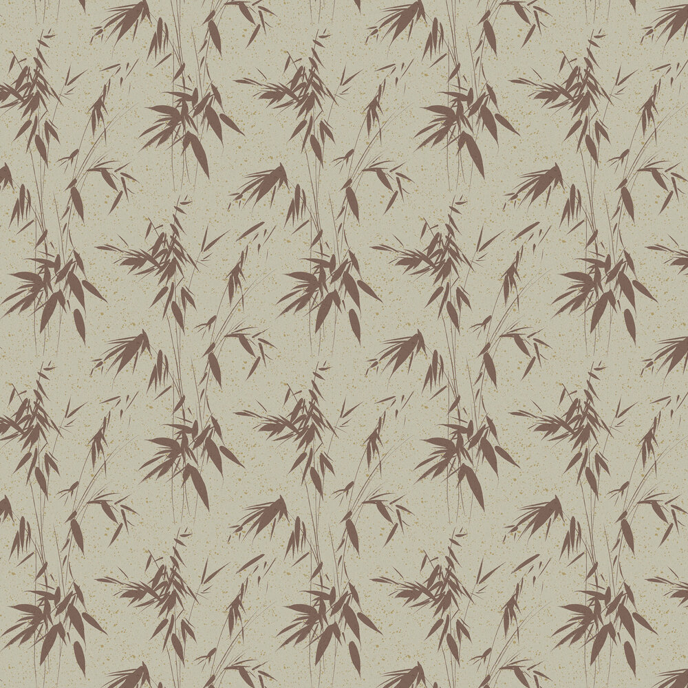 Ink Bamboo Wallpaper - Rust - by Boråstapeter