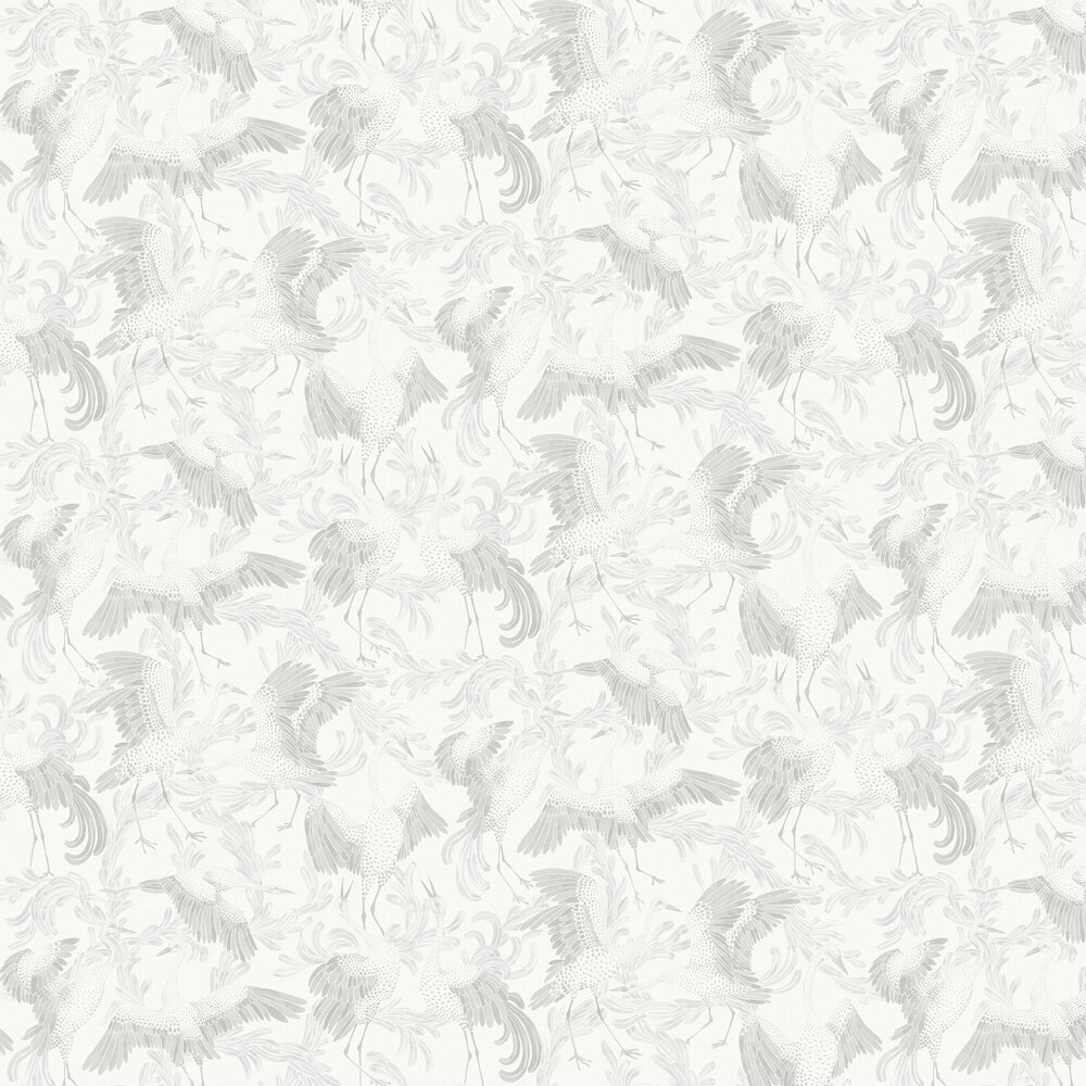 Dancing Crane Wallpaper - Sepia - by Boråstapeter