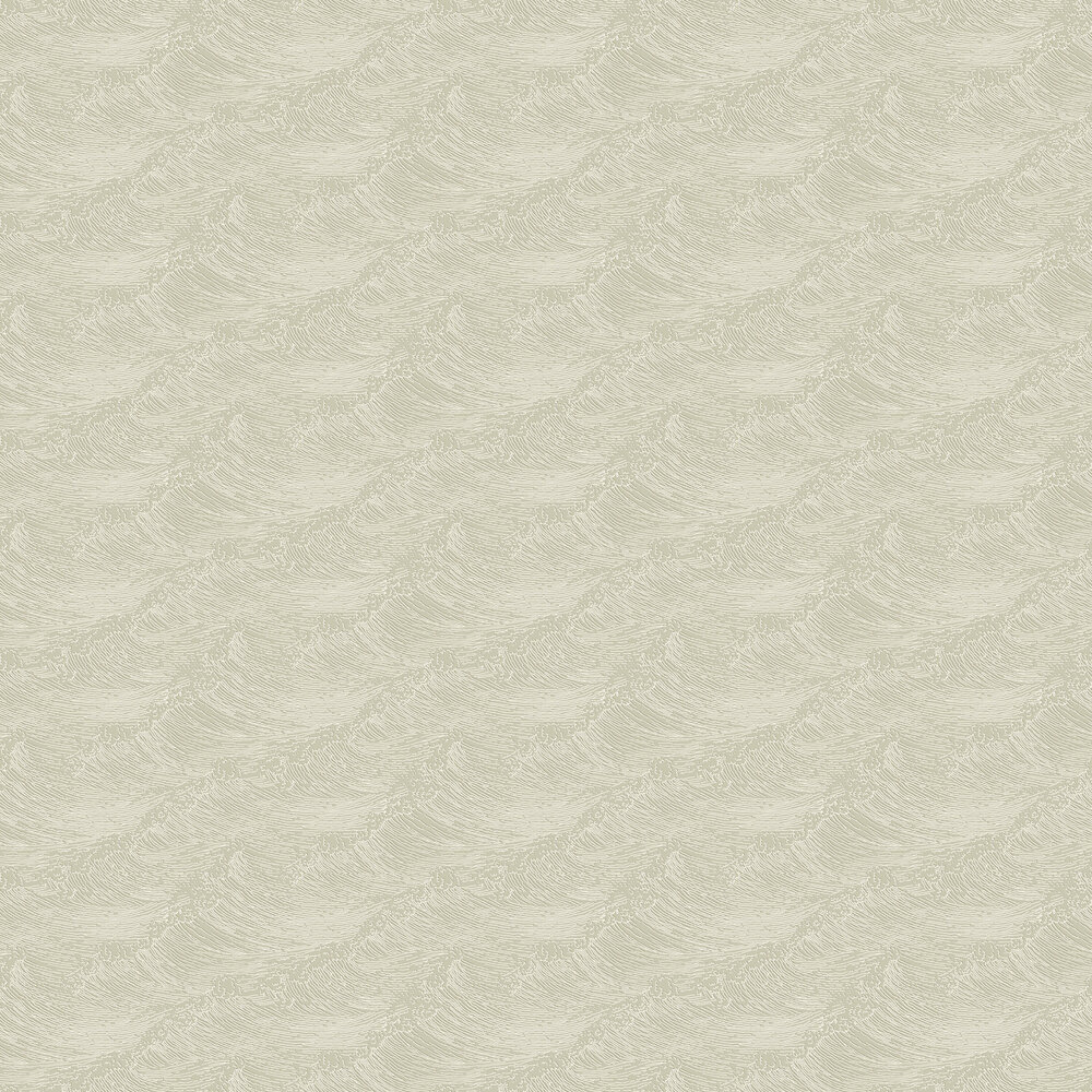 The Wave Wallpaper - Pale Beige - by Boråstapeter