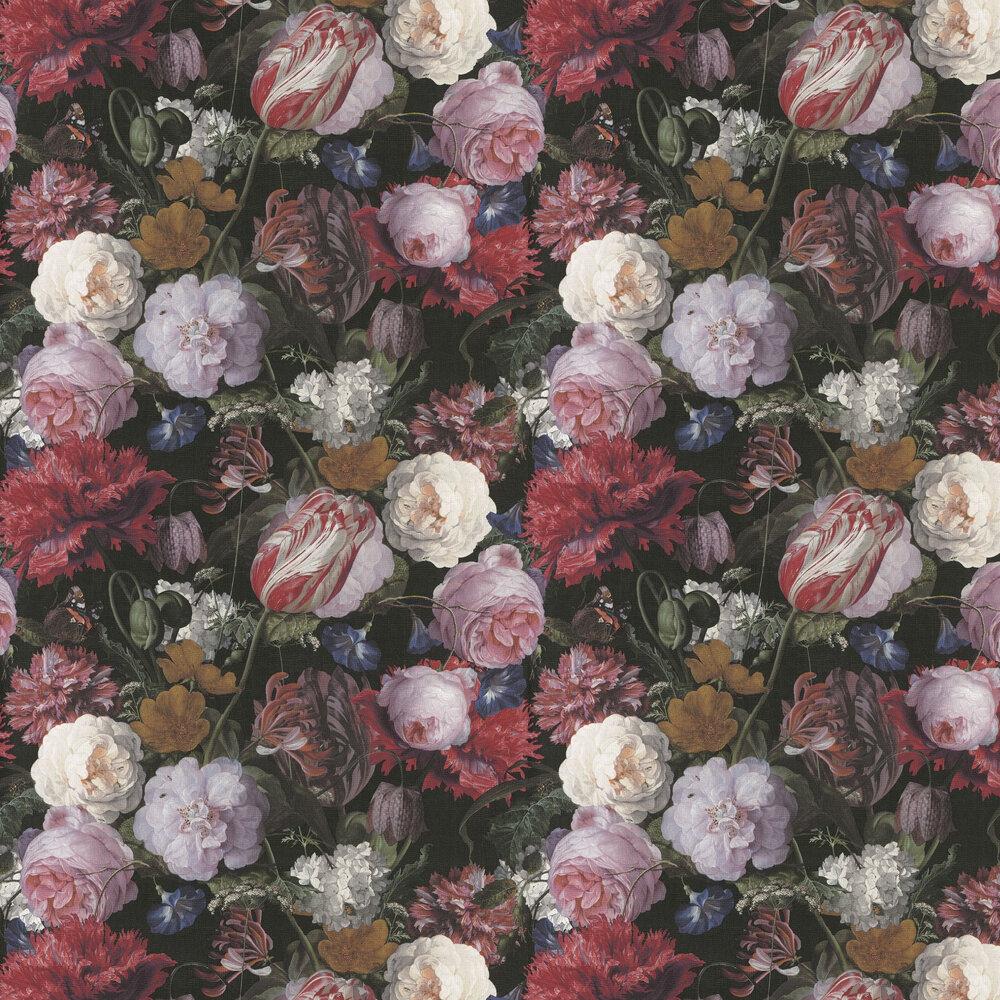 Flowers Wallpaper - Multi / Black - by Eijffinger