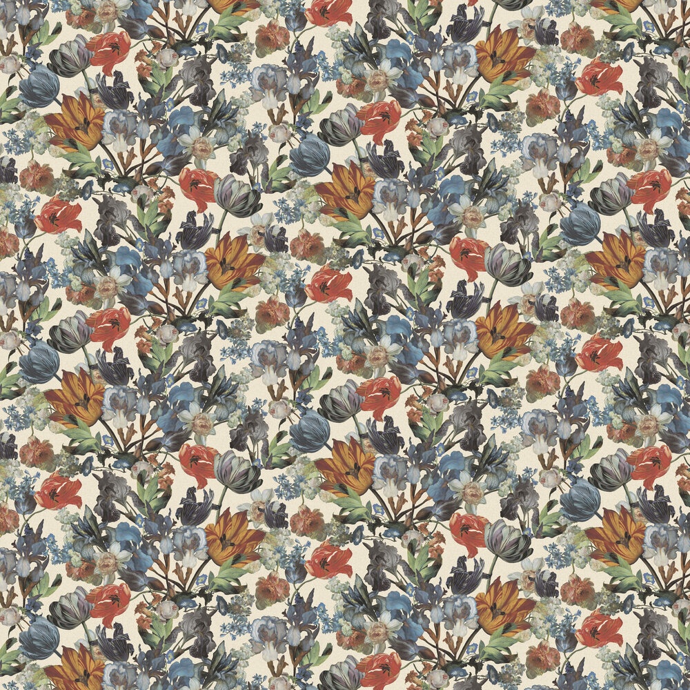 Blooms Wallpaper - Multi / Cream - by Eijffinger