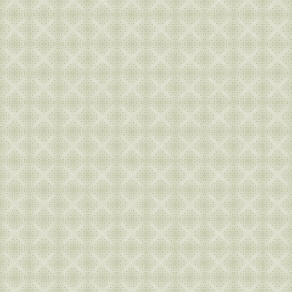 Kimono Wallpaper - Beige and Green - by Boråstapeter