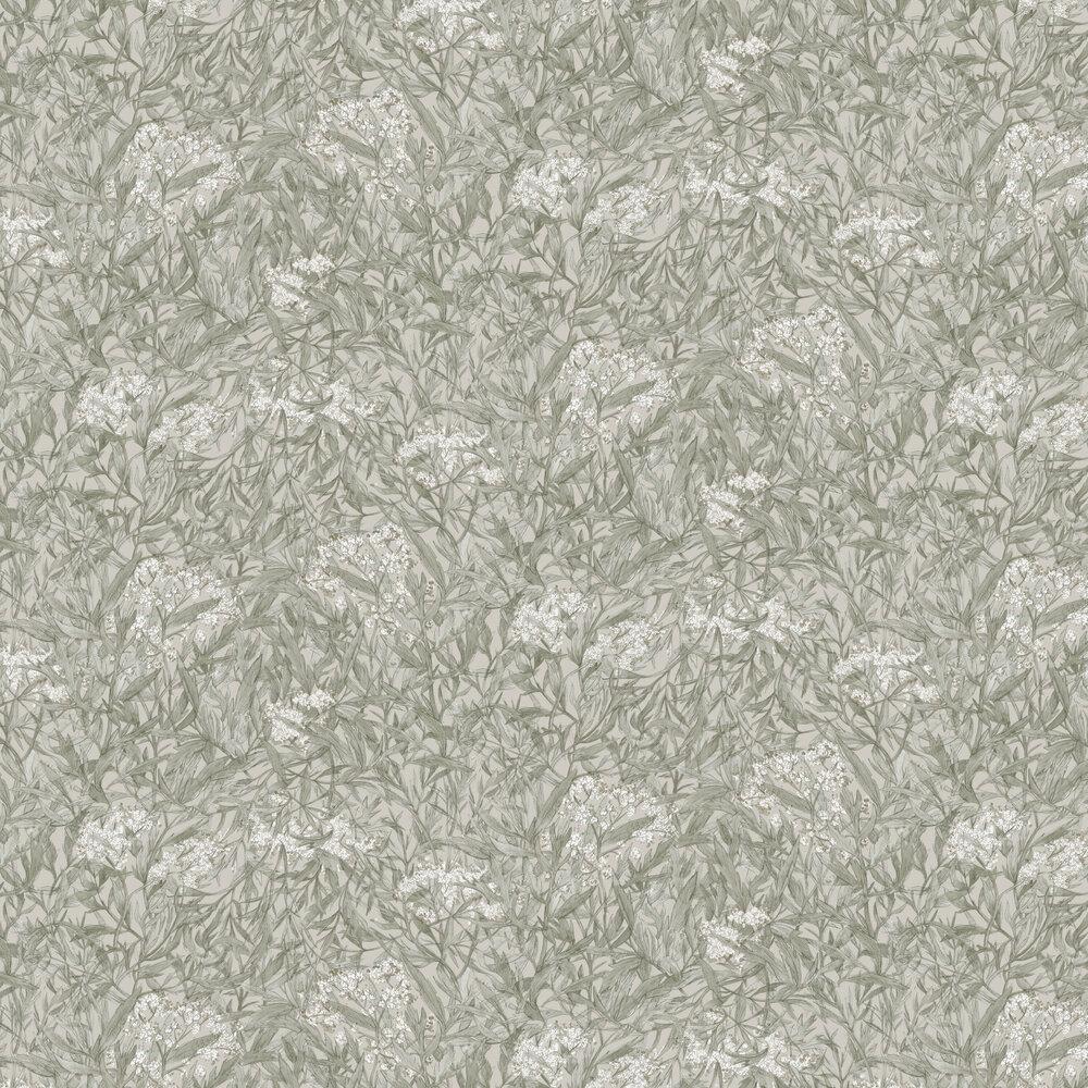 Malin Wallpaper - Sage Green - by Sandberg