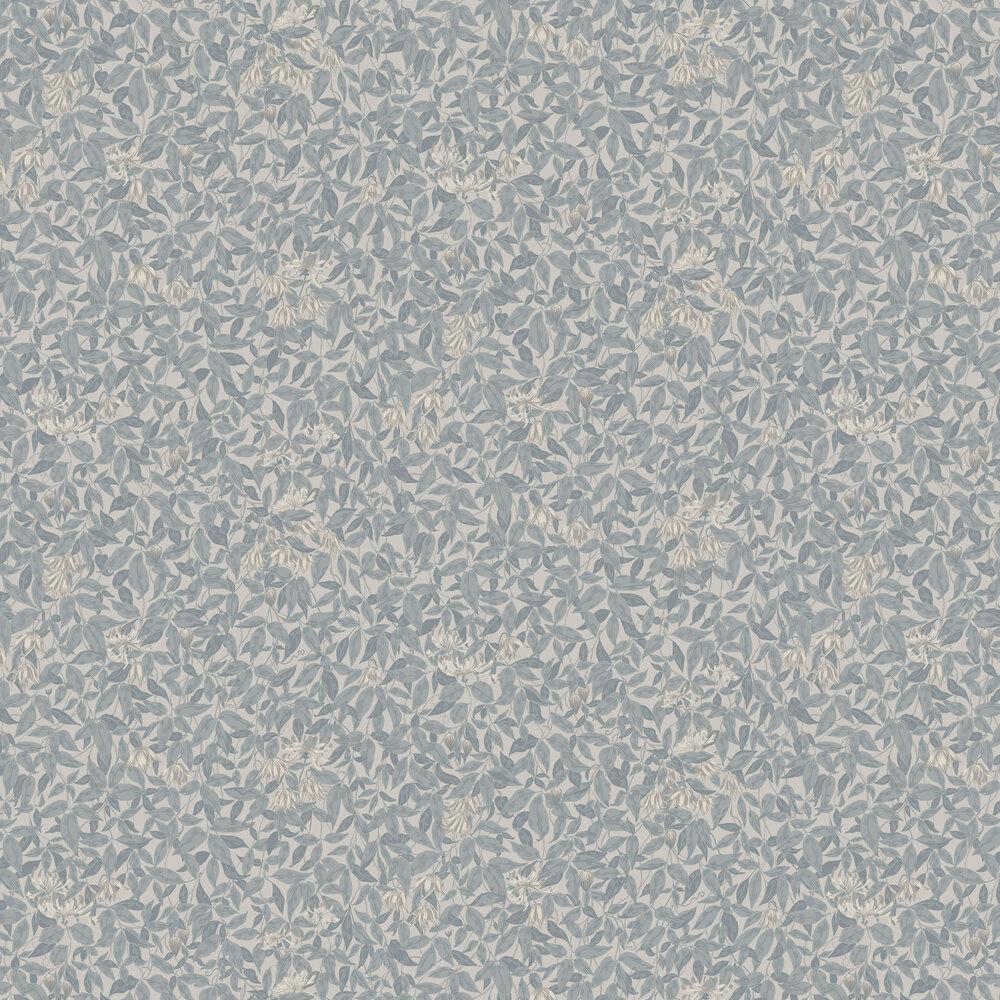 Linnea Wallpaper - Misty Blue - by Sandberg