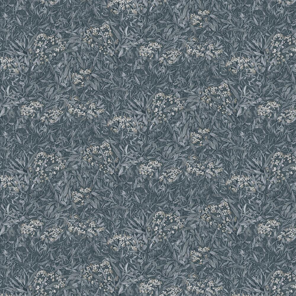 Malin Wallpaper - Indigo Blue - by Sandberg