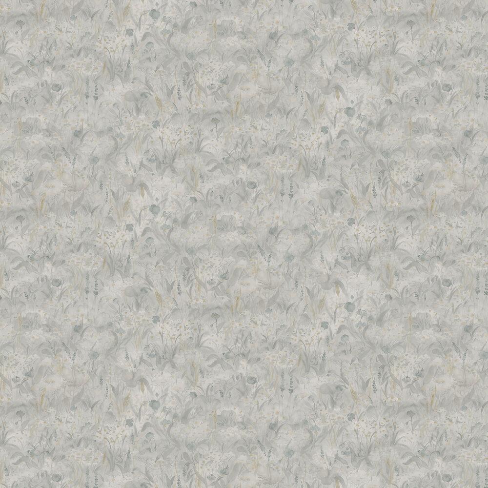 Tove Wallpaper - Misty Blue - by Sandberg