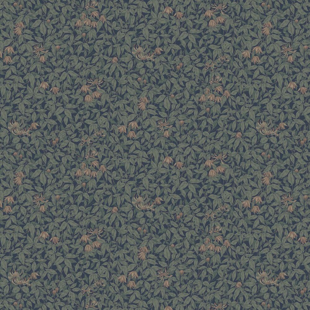 Linnea Wallpaper - Midnight Blue - by Sandberg