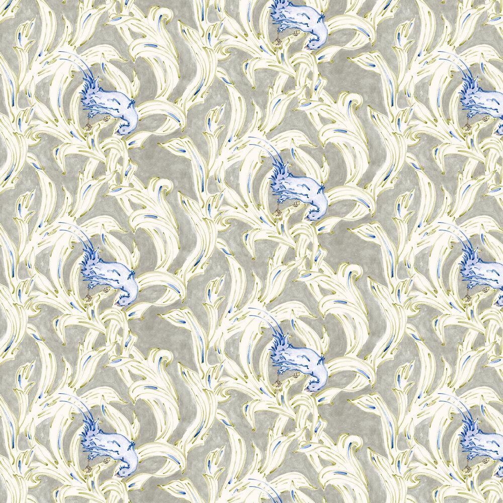 Exotico Wallpaper - Indigo - by Coordonne