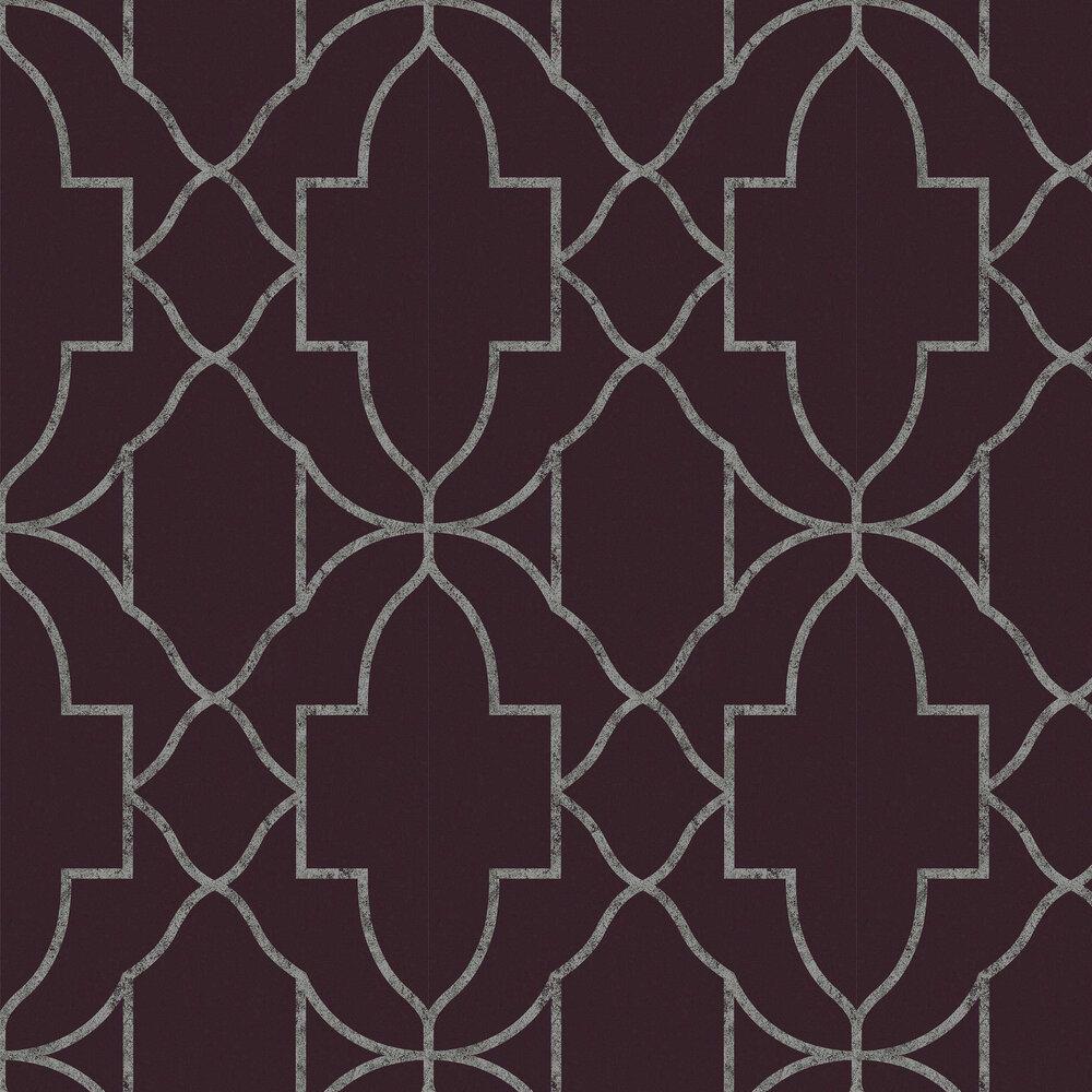 Versailles Wallpaper - Amethyst - by Graham & Brown
