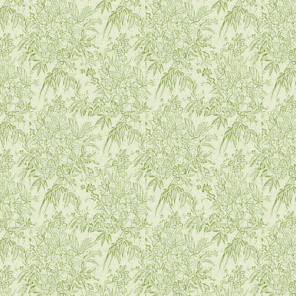 Cherry Orchard Wallpaper - Green - by Mind the Gap