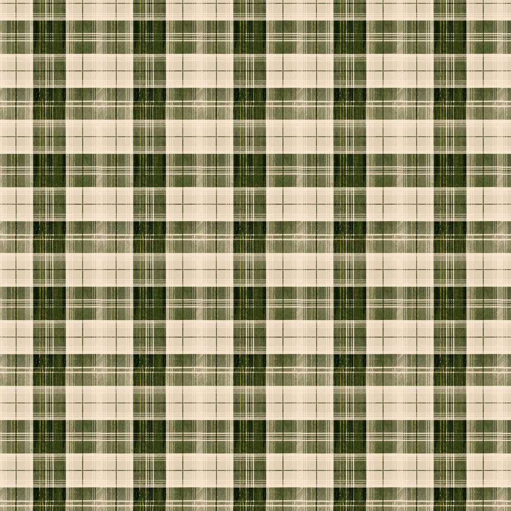 Country Plaid Wallpaper - Beechnut - by Mind the Gap
