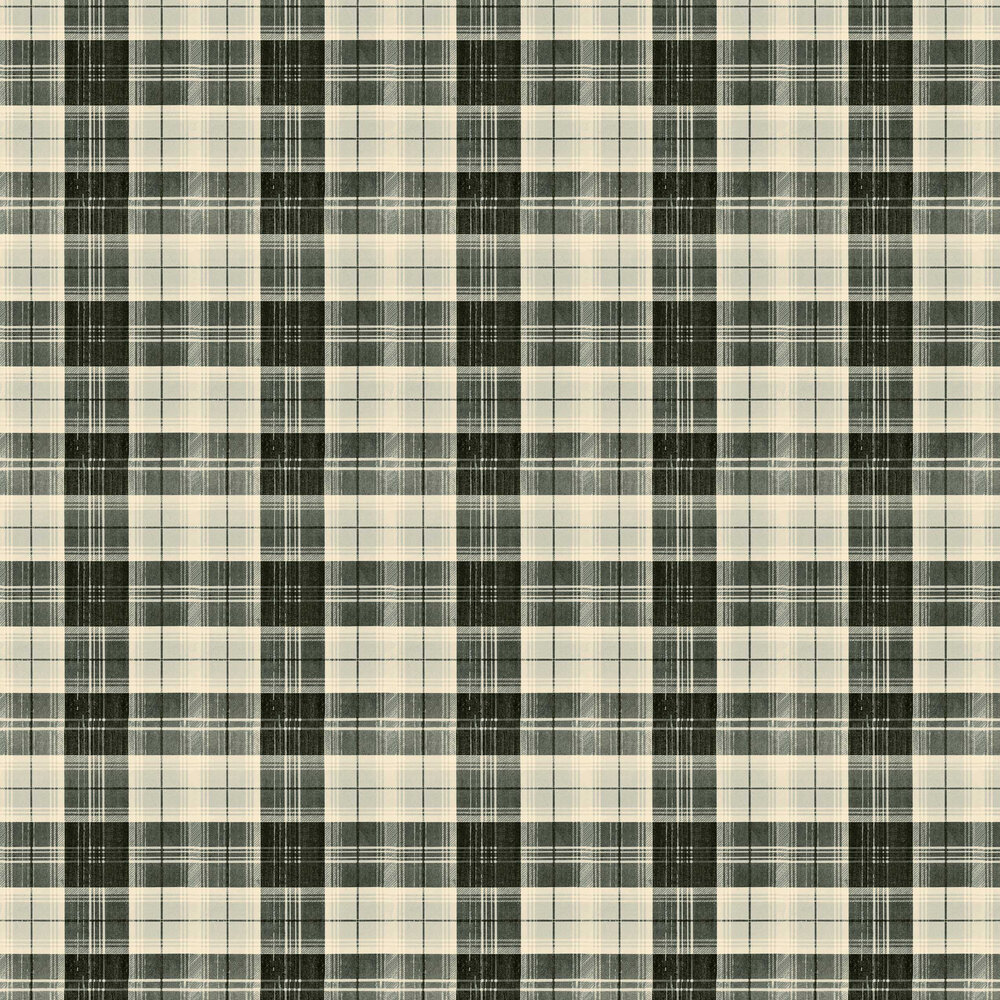 Country Plaid Wallpaper - Charcoal - by Mind the Gap