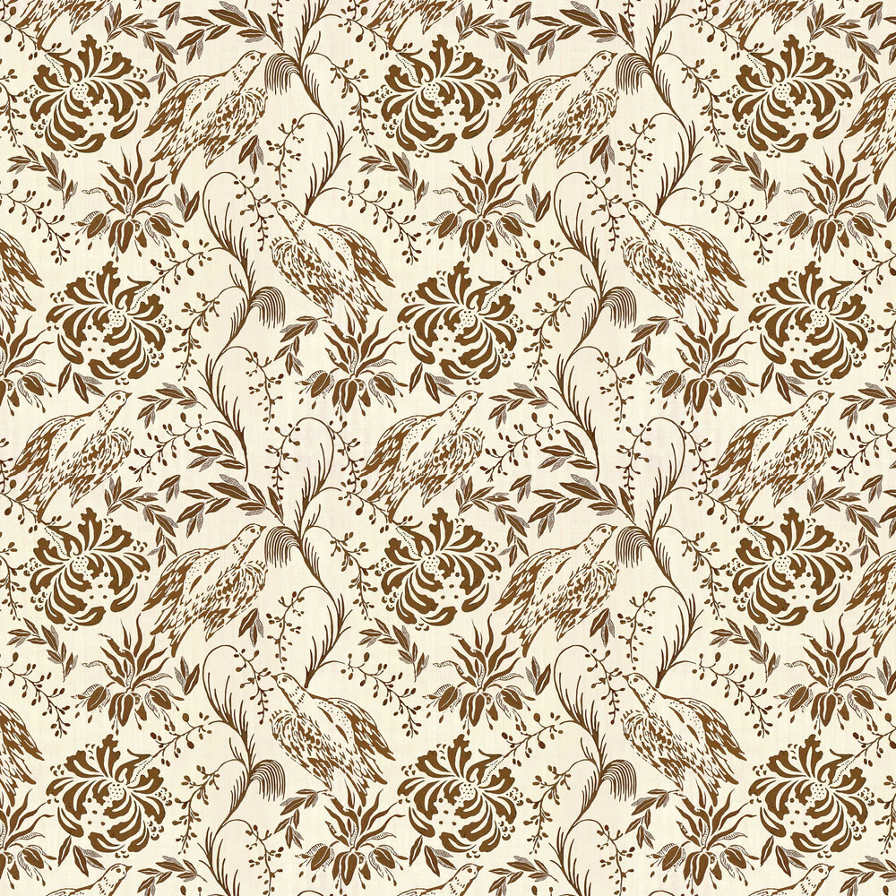 Folk Embroidery Wallpaper - Tobacco - by Mind the Gap