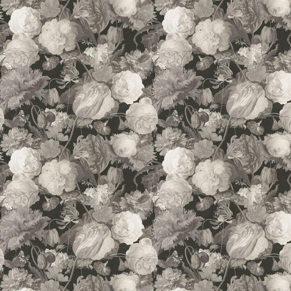 Flowers Wallpaper - Grey - by Eijffinger