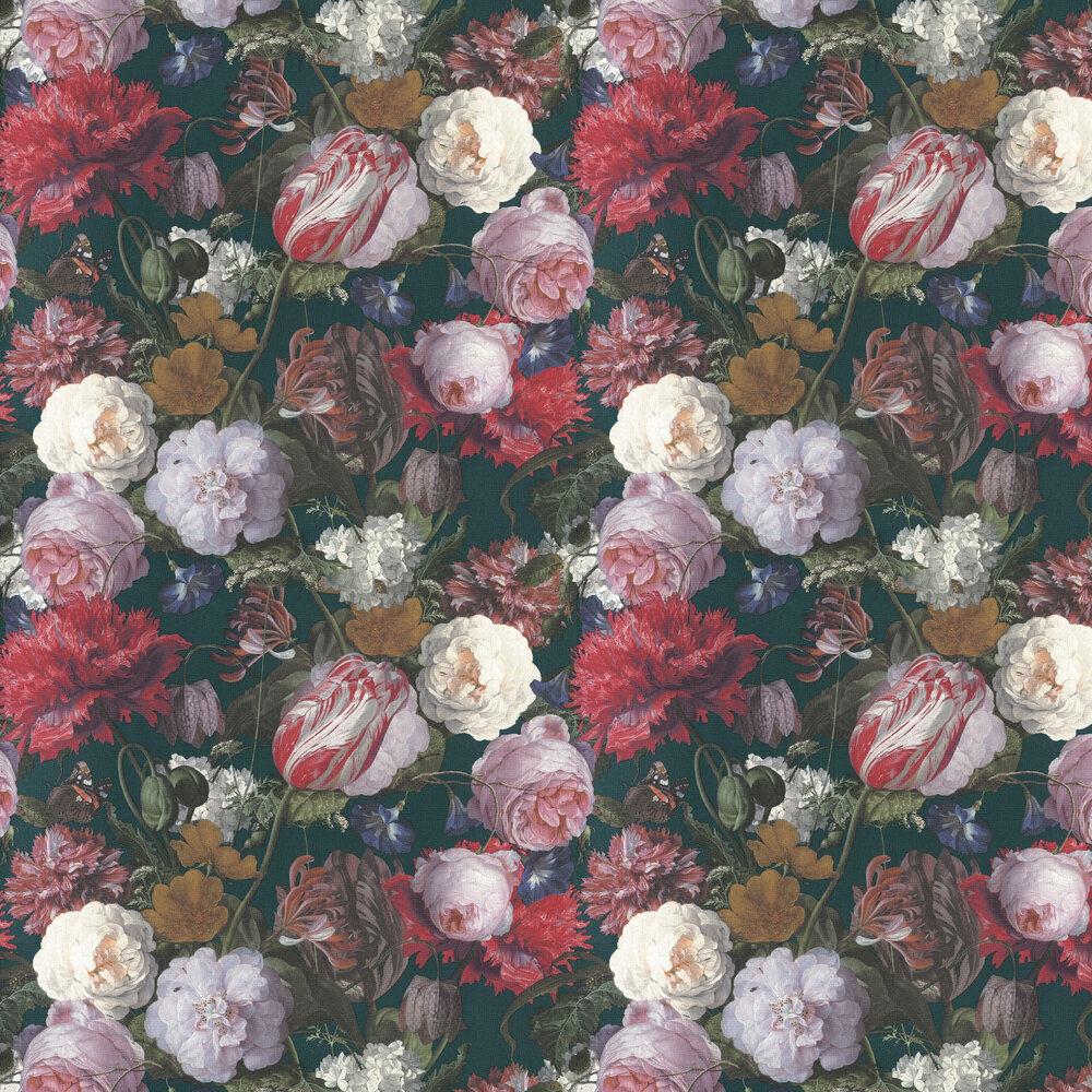 Flowers Wallpaper - Multi / Green - by Eijffinger