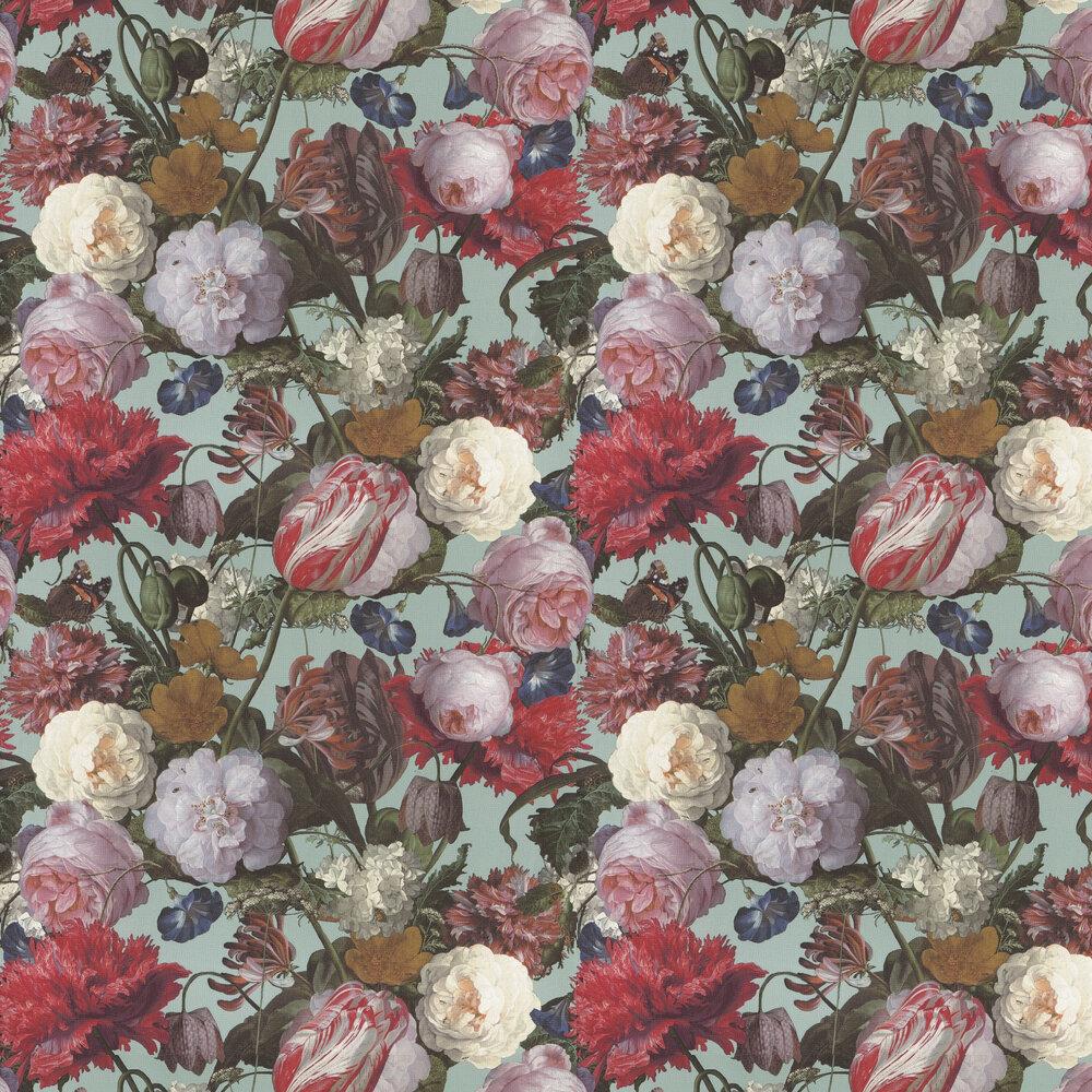 Flowers Wallpaper - Multi / Blue - by Eijffinger