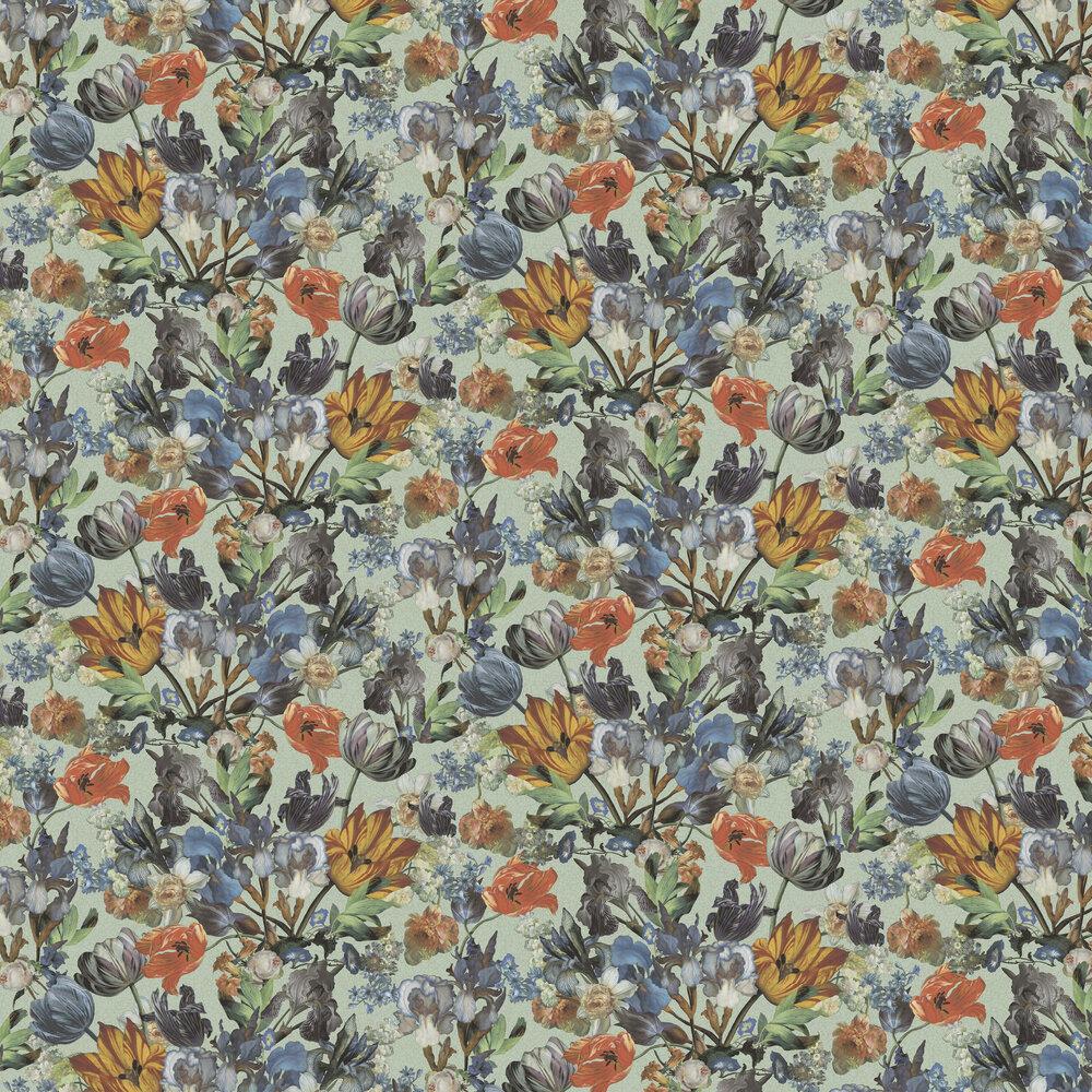 Blooms Wallpaper - Multi / Blue - by Eijffinger