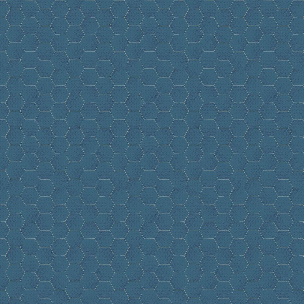 Geometric Wallpaper - Blue - by Eijffinger