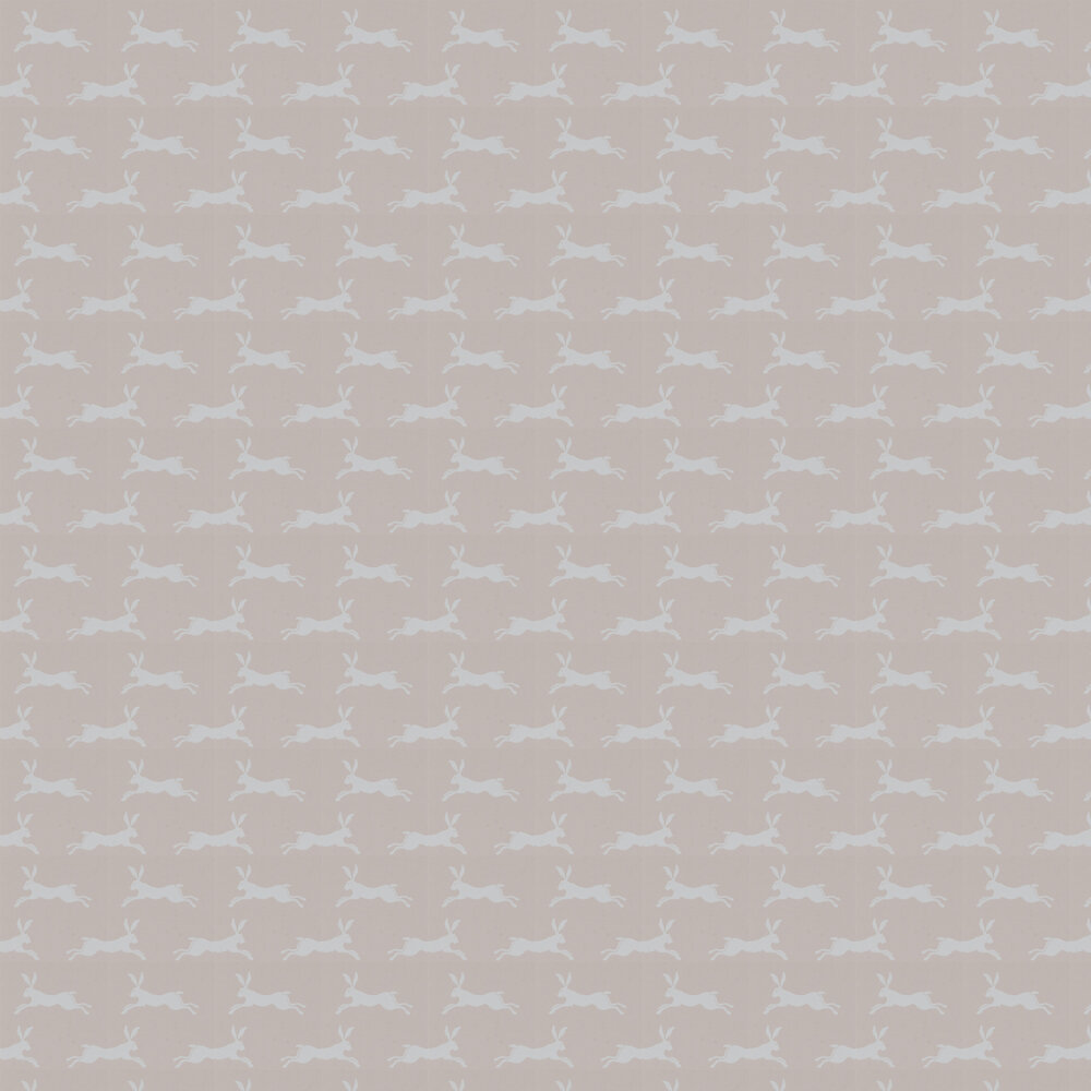 March Hare Wallpaper - Soft Pink - by Jane Churchill