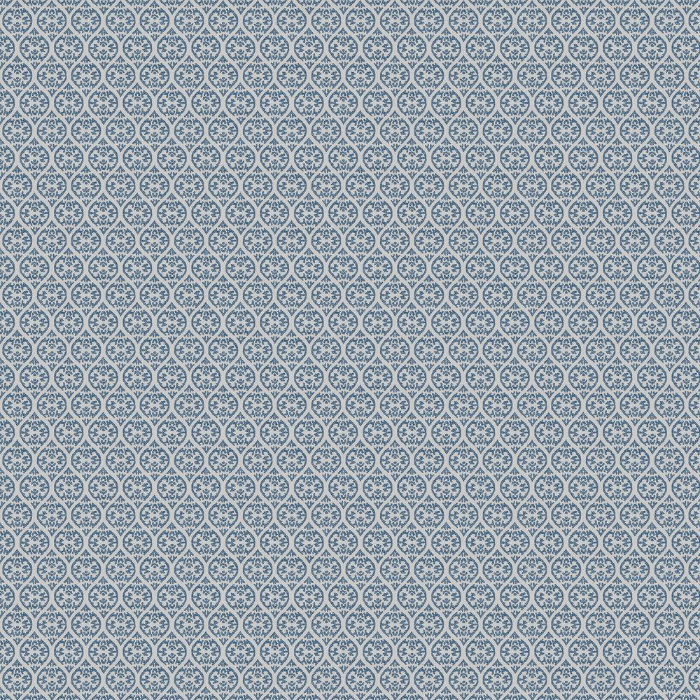 Elphin Wallpaper - Blue - by Jane Churchill
