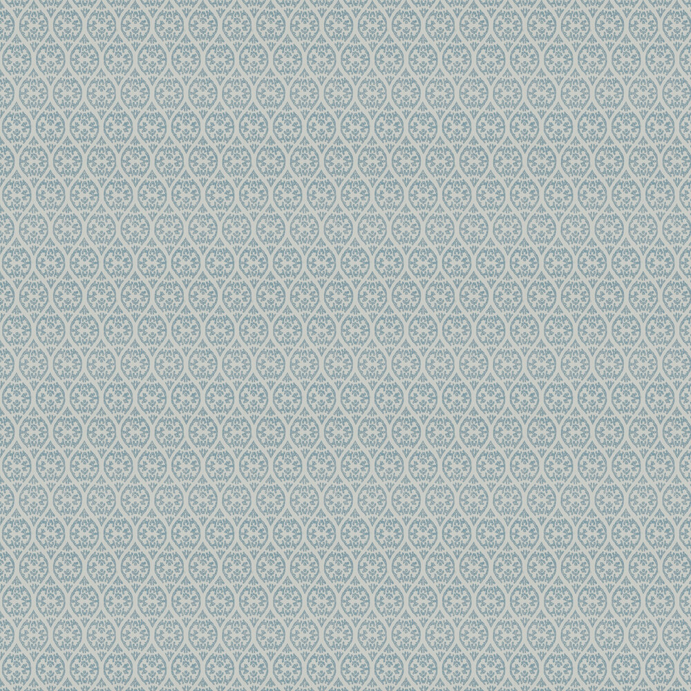 Elphin Wallpaper - Soft Blue - by Jane Churchill