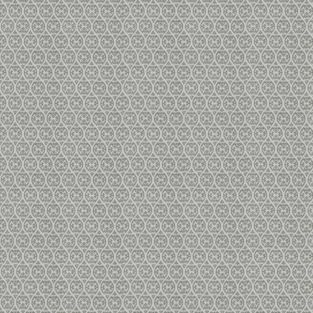 Elphin Wallpaper - Charcoal - by Jane Churchill