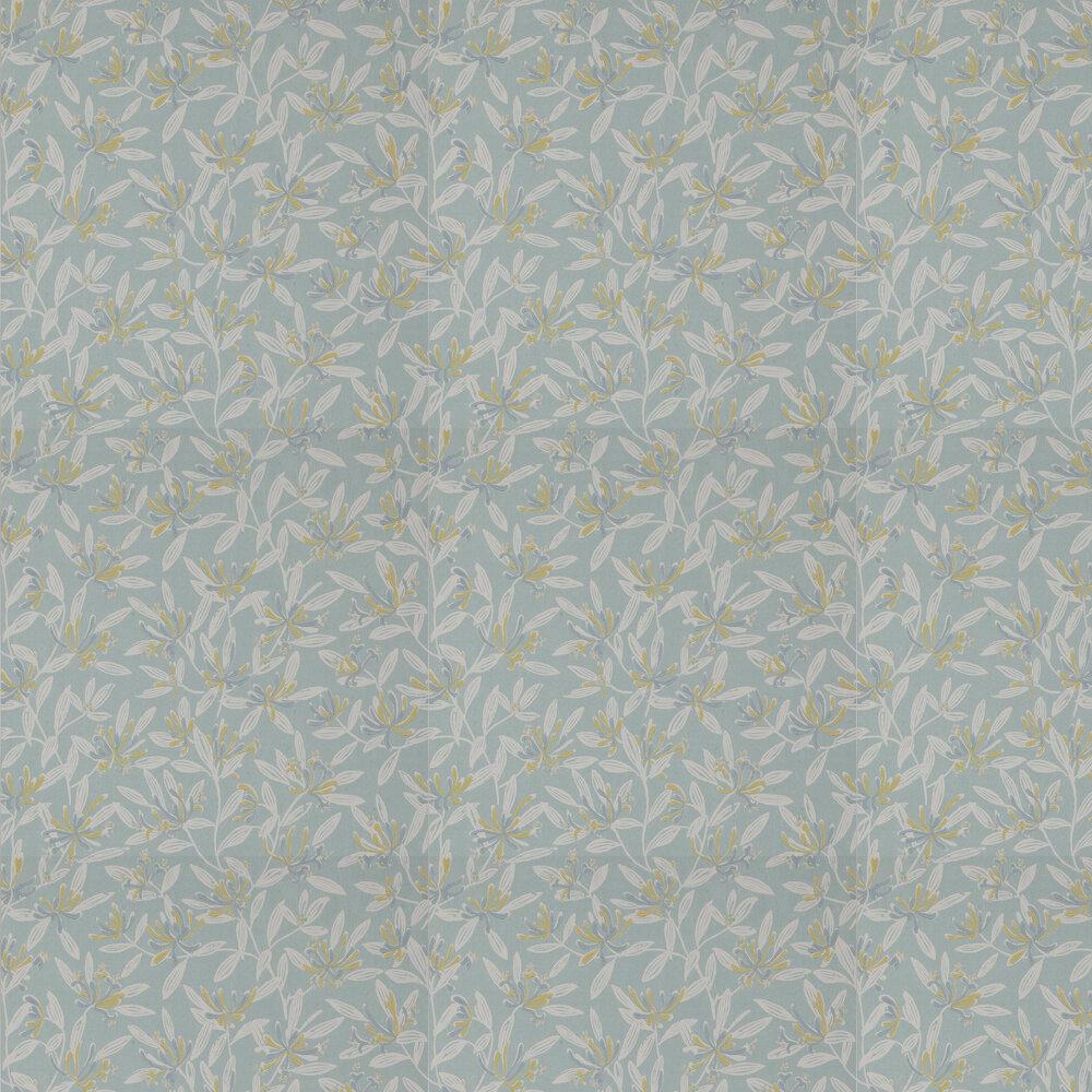 Nerissa Wallpaper - Aqua - by Jane Churchill