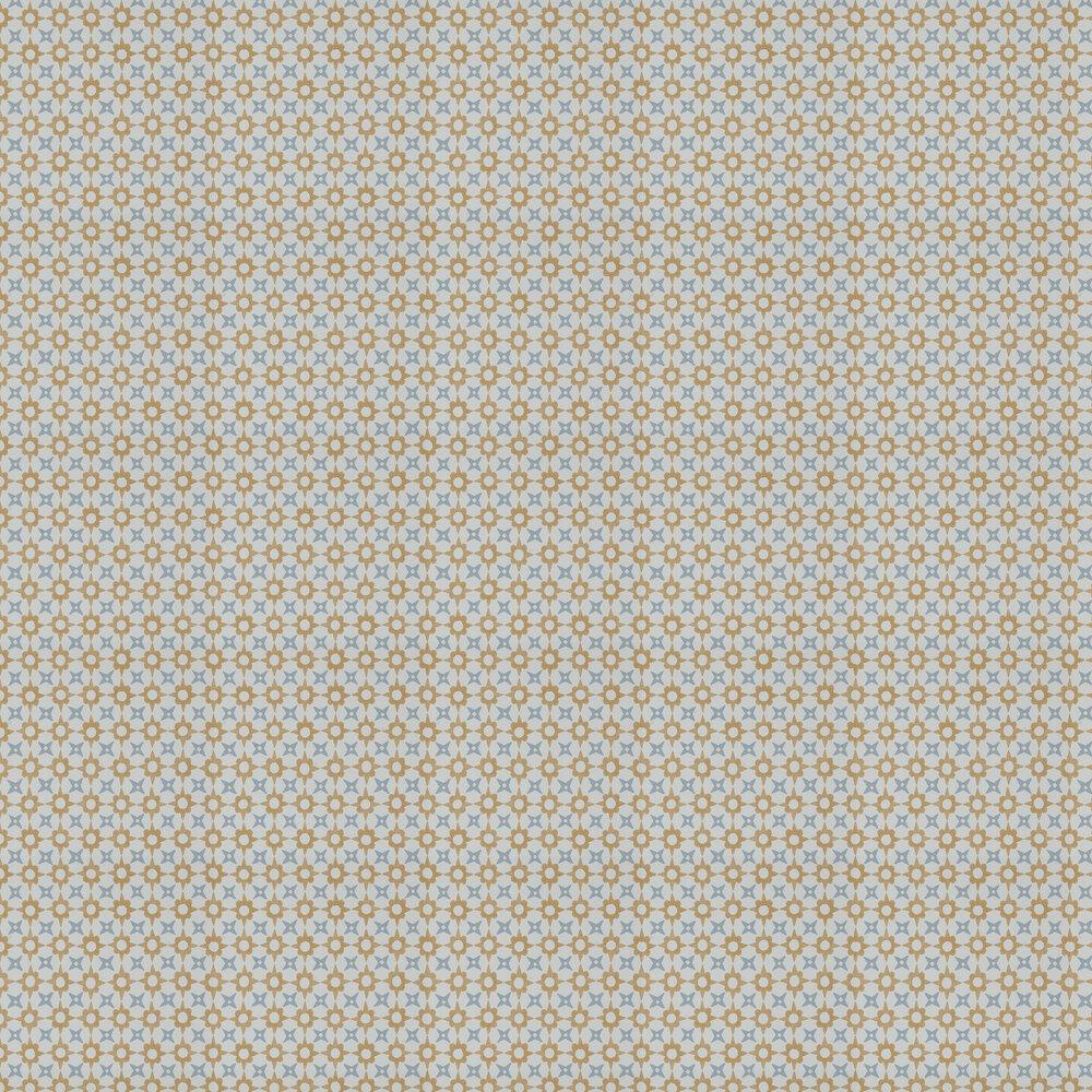 Tassi Wallpaper - Yellow/ Blue - by Jane Churchill