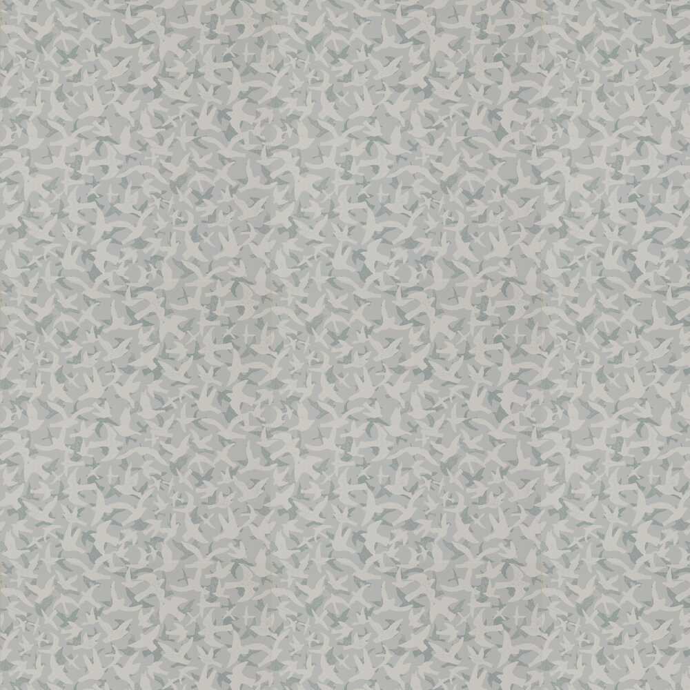 Windsong Wallpaper - Grey - by Jane Churchill