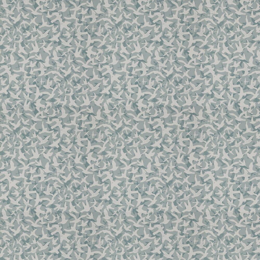 Windsong Wallpaper - Blue - by Jane Churchill