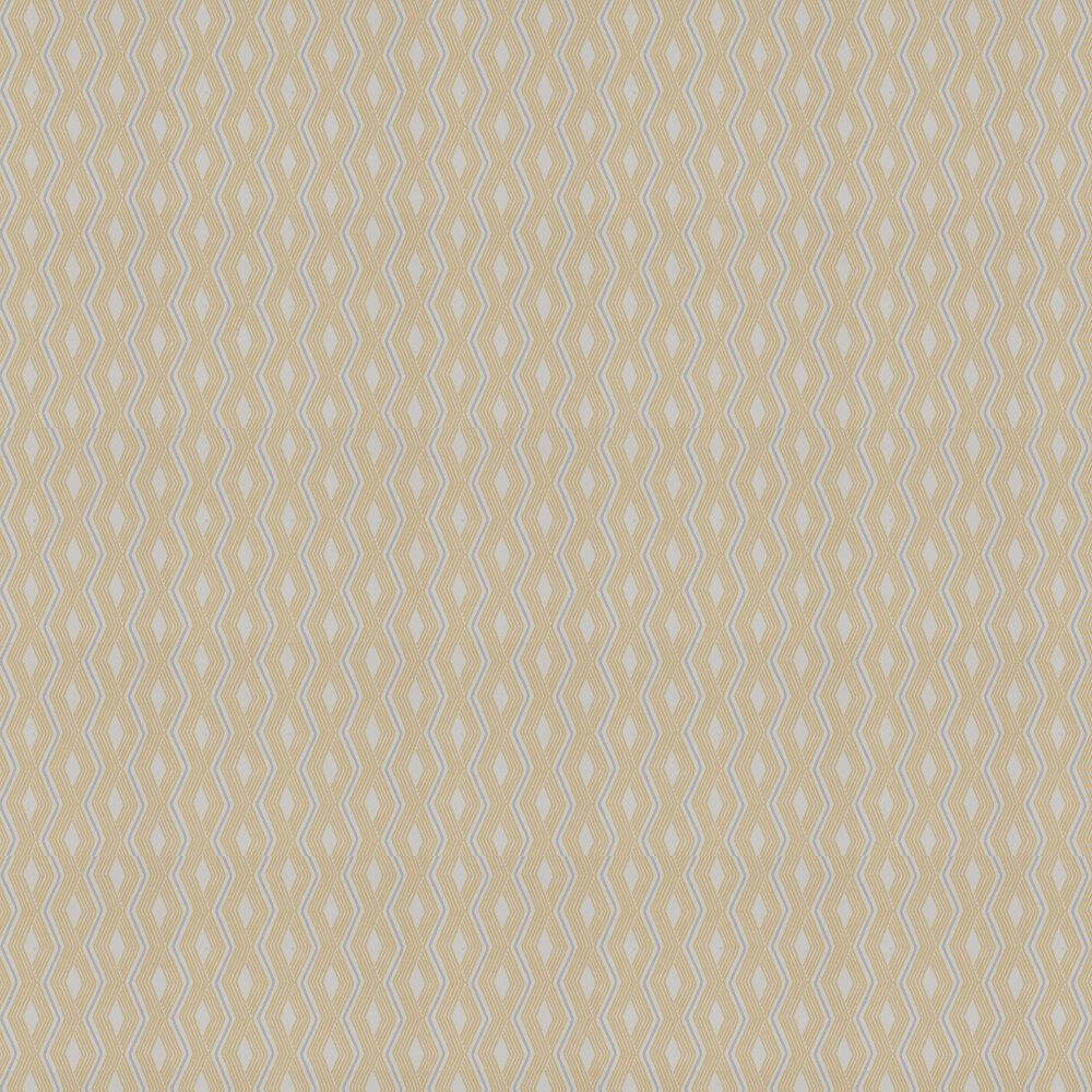 Pemba Wallpaper - Yellow/ Grey - by Jane Churchill