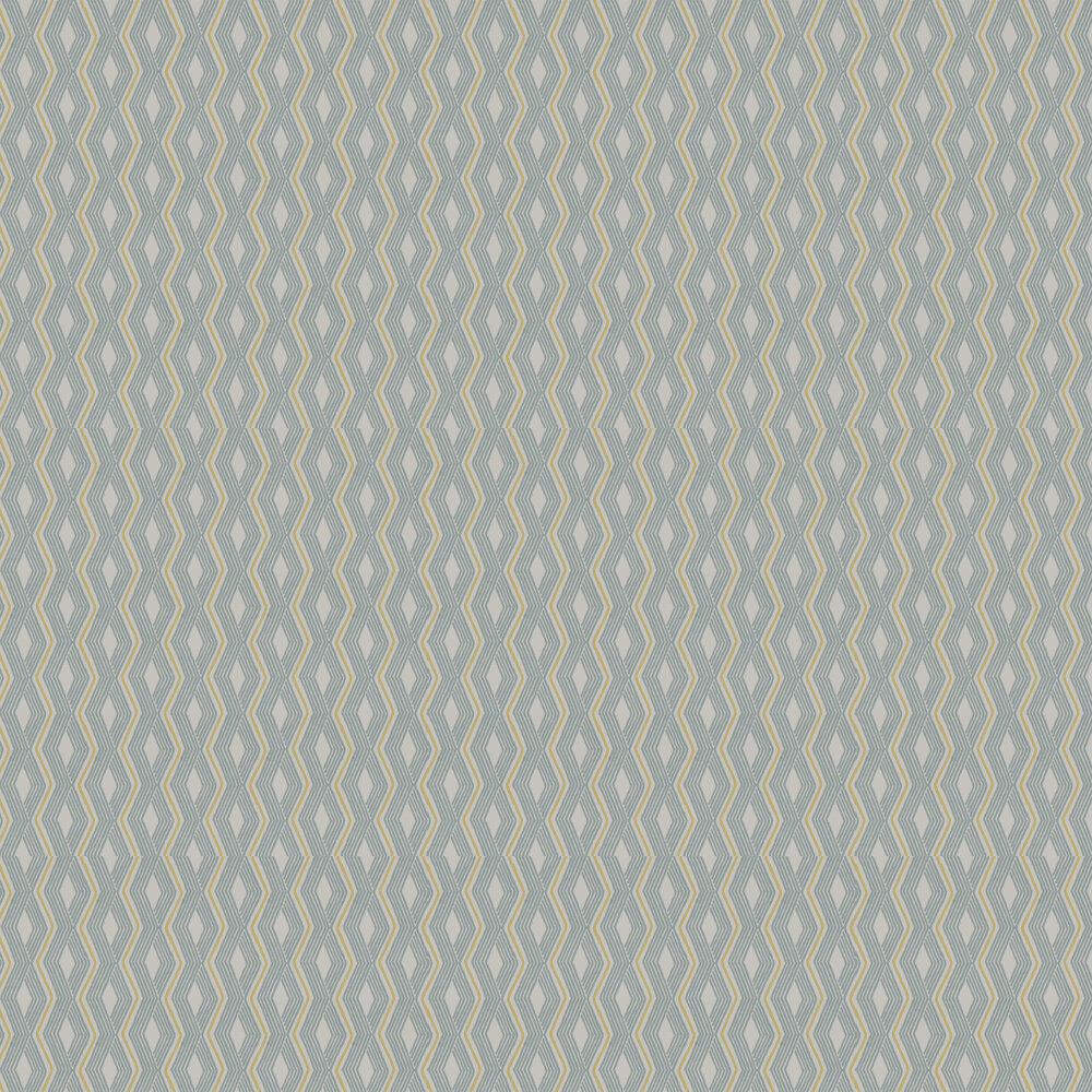 Pemba Wallpaper - Aqua/ Lime - by Jane Churchill