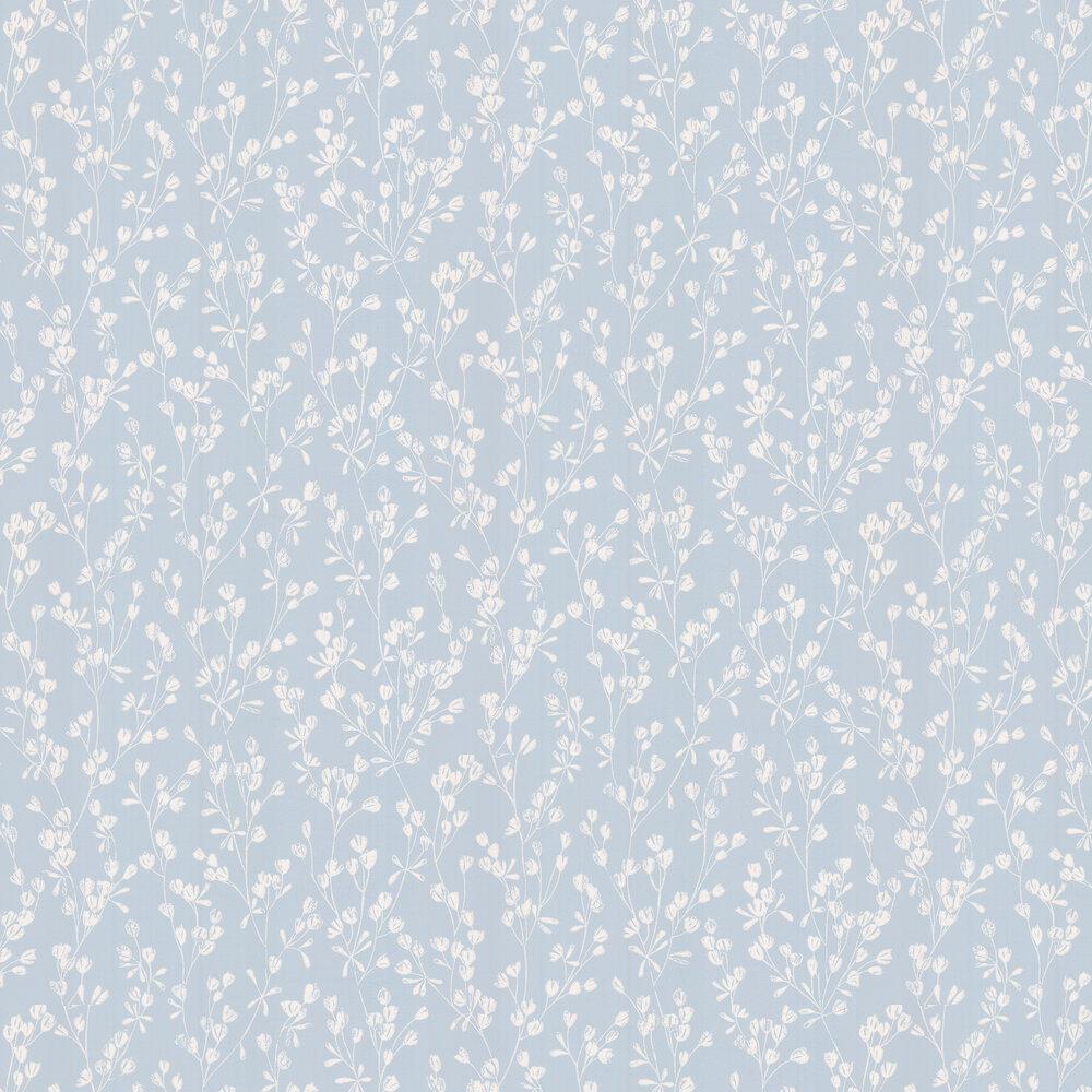 Ines Wallpaper - Soft Blue - by Jane Churchill