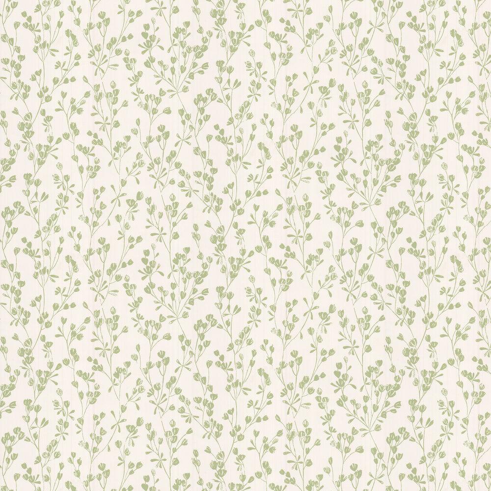 Ines Wallpaper - Green - by Jane Churchill
