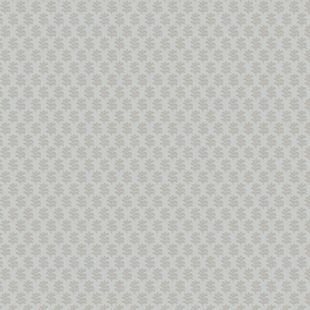 Rowan Wallpaper - Grey - by Jane Churchill